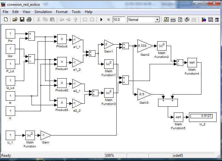 J009: Diagrama en Simulink de conexión red eléctrica y generador ...