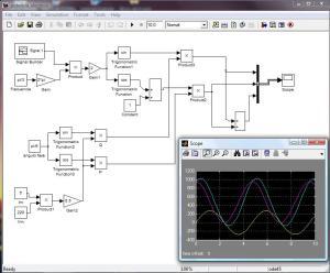 Cálculo de la ecuación de potencia eléctrica utilizando Simulink