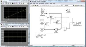 Diagrama de control para pequeños ángulos de carga con Simulink/Matlab