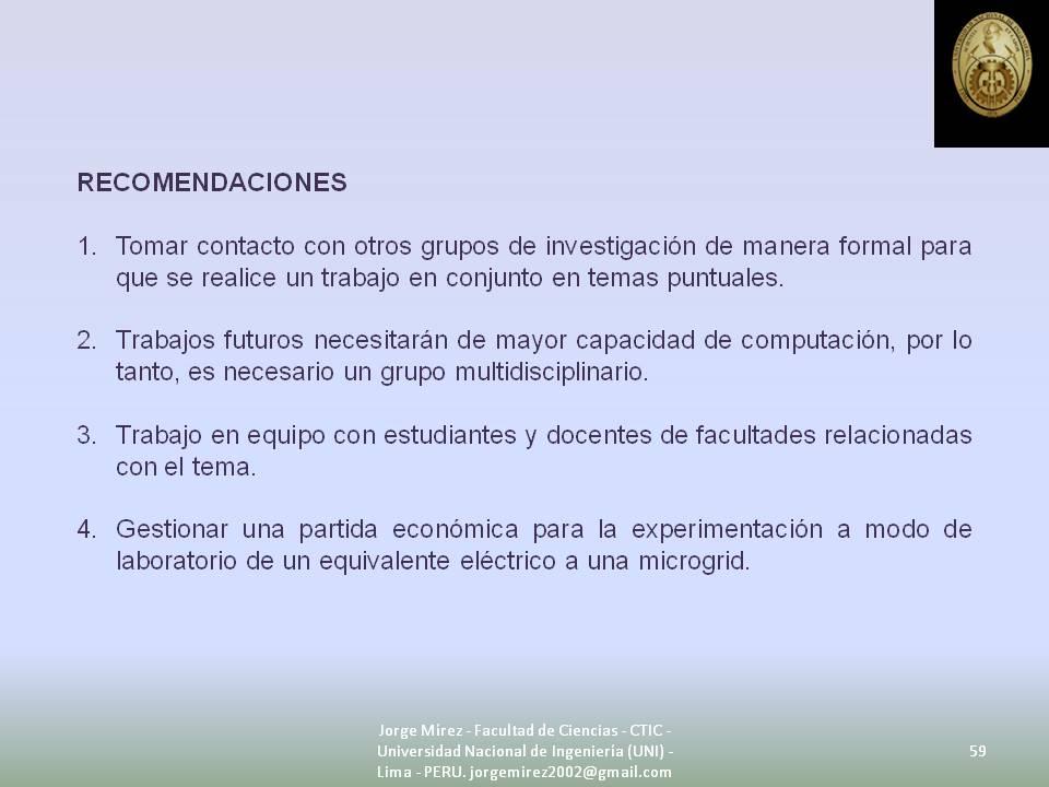 J179: Diapositiva Nro. 59 de Sustentación de Tesis de Maestría en ...