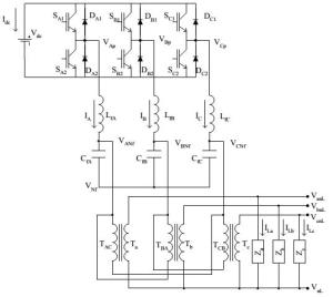 Circuits chematic of the inverter-based island micro-source distributed generation system