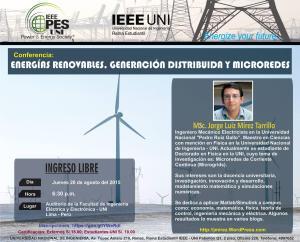 conferencia_energias renovables generacion distribuida microgrid agosto 2015
