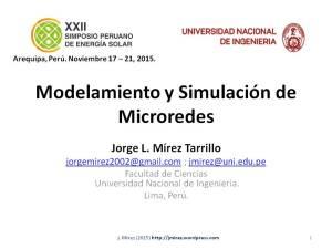 XXII Simposio Peruano Energía Solar Jorge MIREZ 2015 Diapositiva1