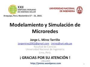 XXII Simposio Peruano Energía Solar Jorge MIREZ 2015 Diapositiva22