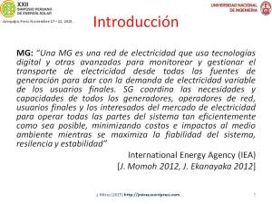 XXII Simposio Peruano Energía Solar Jorge MIREZ 2015 Diapositiva5