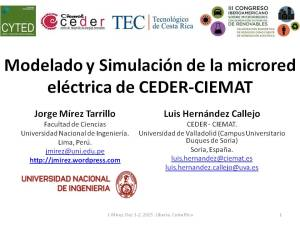 Modelling and Simulation of CEDER-CIEMAT Microgrid pag 1